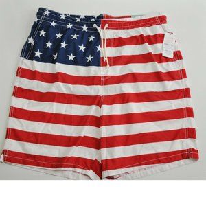 Old Navy Mens Swim Trunks Size XL American Flag